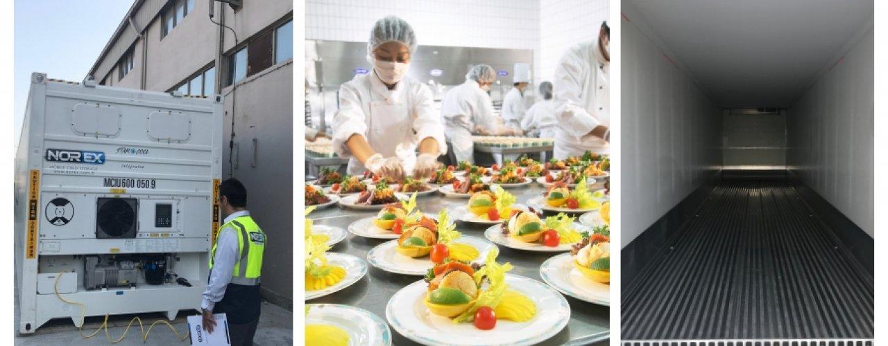 Sektöründe Lider Catering Firması Norex Mobil Soğuk Hava Depomuzu Kiraladı