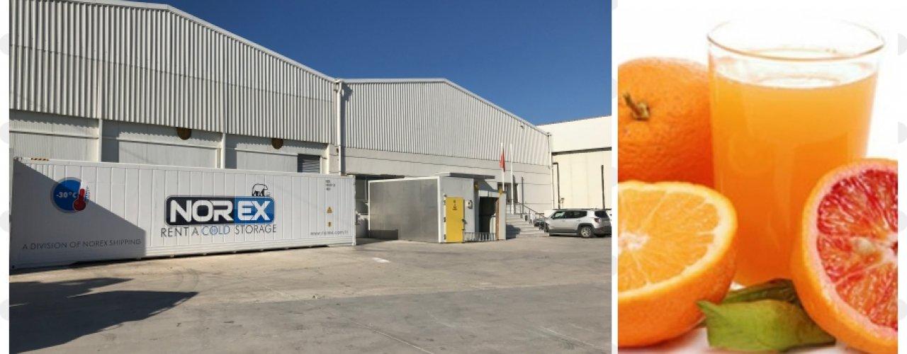 Ege Bölgesinde Yerleşik Meyve Suyu Üreticisi Müşterimiz Norex Mobil Soğuk Hava Deposunu Kullanmaya Başladı