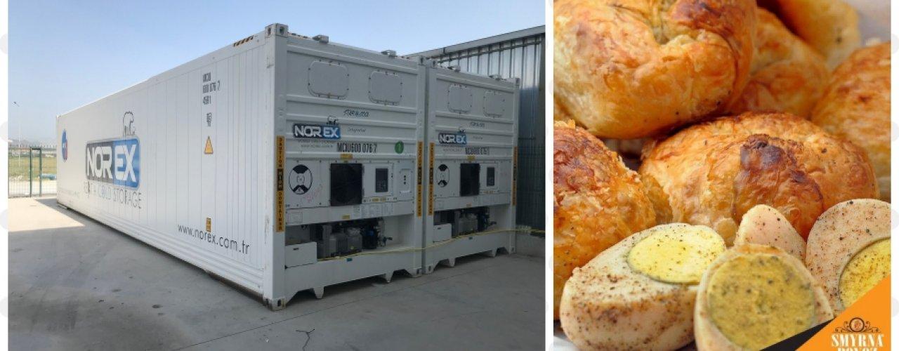 İzmir Gaziemir' de Üretim Yapan Smyrna Boyoz Firması 3 Adet 40 lık  Norex Mobil Soğuk Hava Deposu Kiraladı