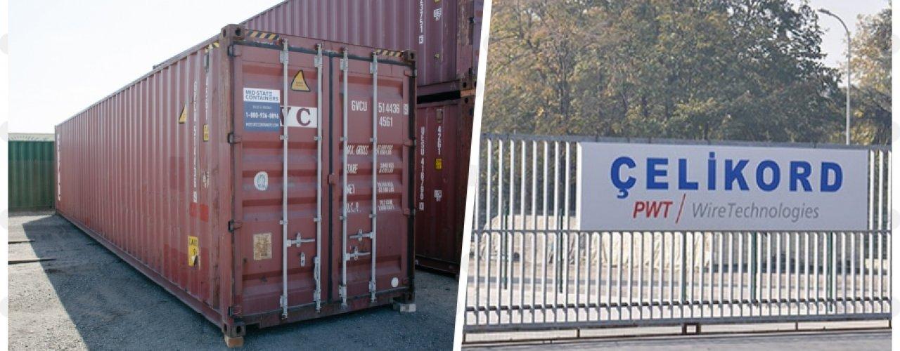 Bekaert İzmit Çelik Kord fabrikası 5x40 hc Depo Konteyneri Kiraladı