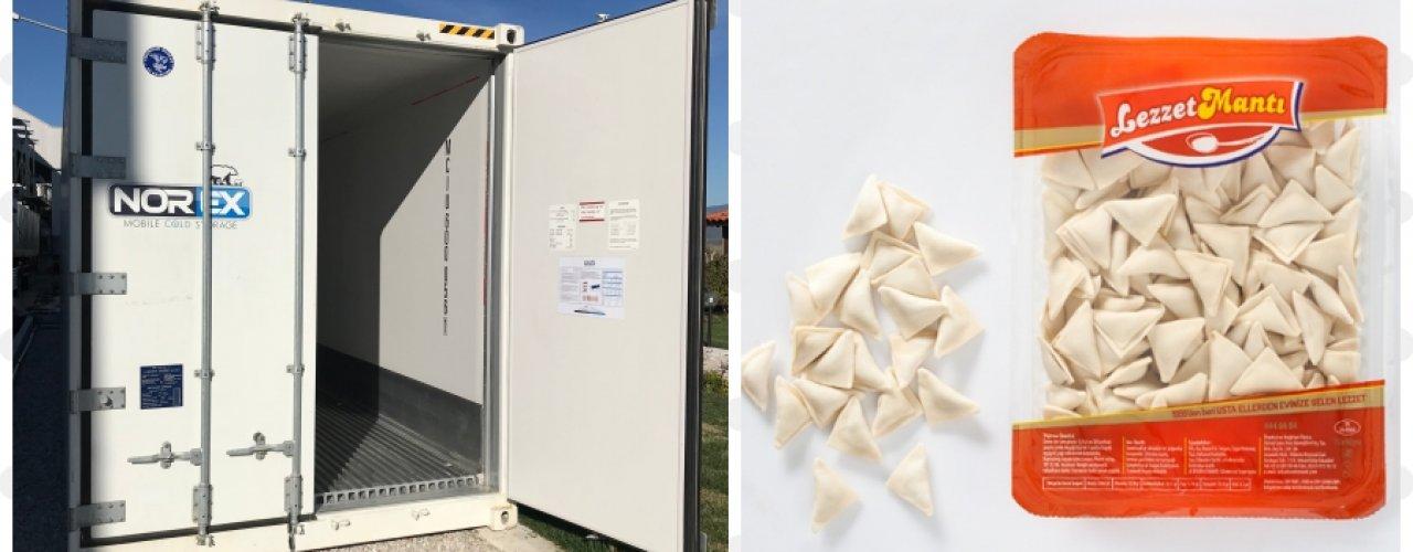 Mantı Üreticisi Müşterimiz Lezzet Mantı Norex Mobil Soğuk Hava Konteynerini Kiraladı