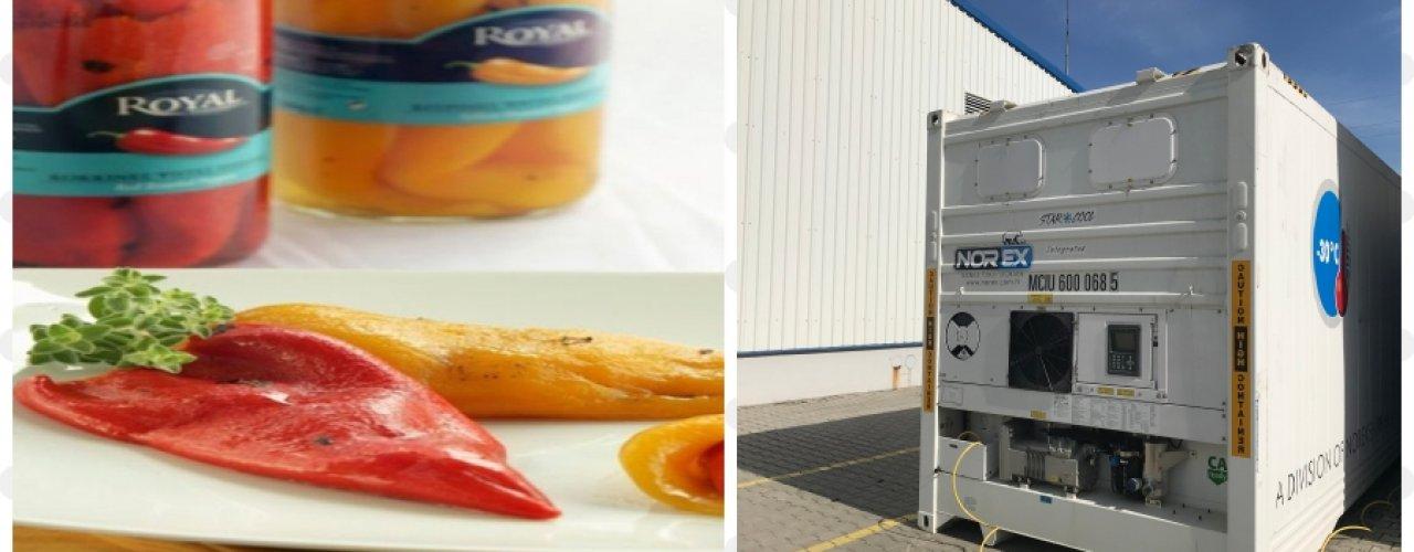 Biga Organize Sanayi Bölgesin de Üretim yapan Royal Food firması Norex Taşınabilir Soğuk Hava Deposunu Kiraladı