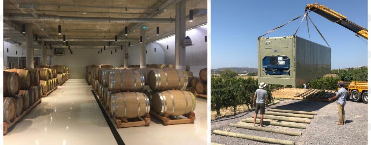 Çeşme Ovacıkta Butik Şarap Üretimi Yapan Müşterimiz Norex Mobil Soğuk Hava Deposunu Kiraladı