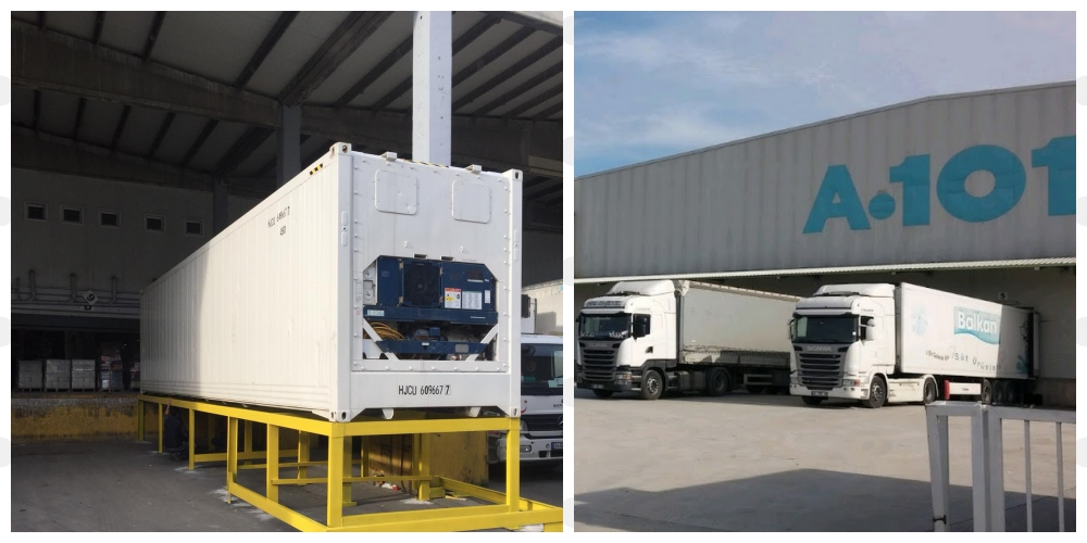 One of the biggest SuperMarket Brand A 101 rented our mobile cold storage unit