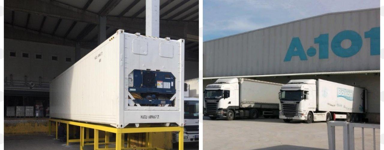 A101  İstanbul Anadolu Yakası  Genel Deposu 1x40 hc soğutuculu konteynerimizi kiraladı