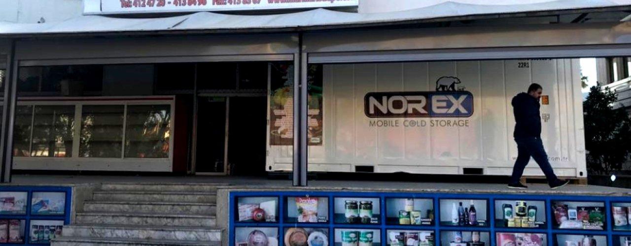 Marmaris ' de Yerleşik Toptan Gıda Ticareti  Yapan Müşterimiz Norex Soğuk Hava Depo Konteynerini Kiraladı