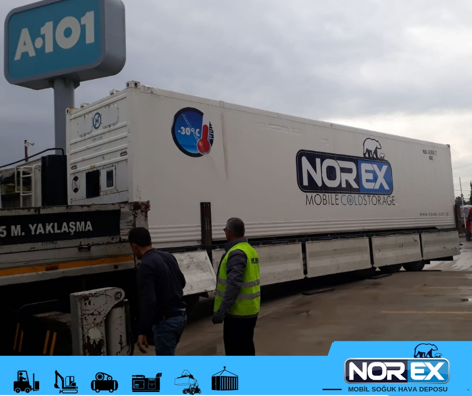 One of Biggest  market chain named A 101 rented Norex Mobile Cold Storage Unit
