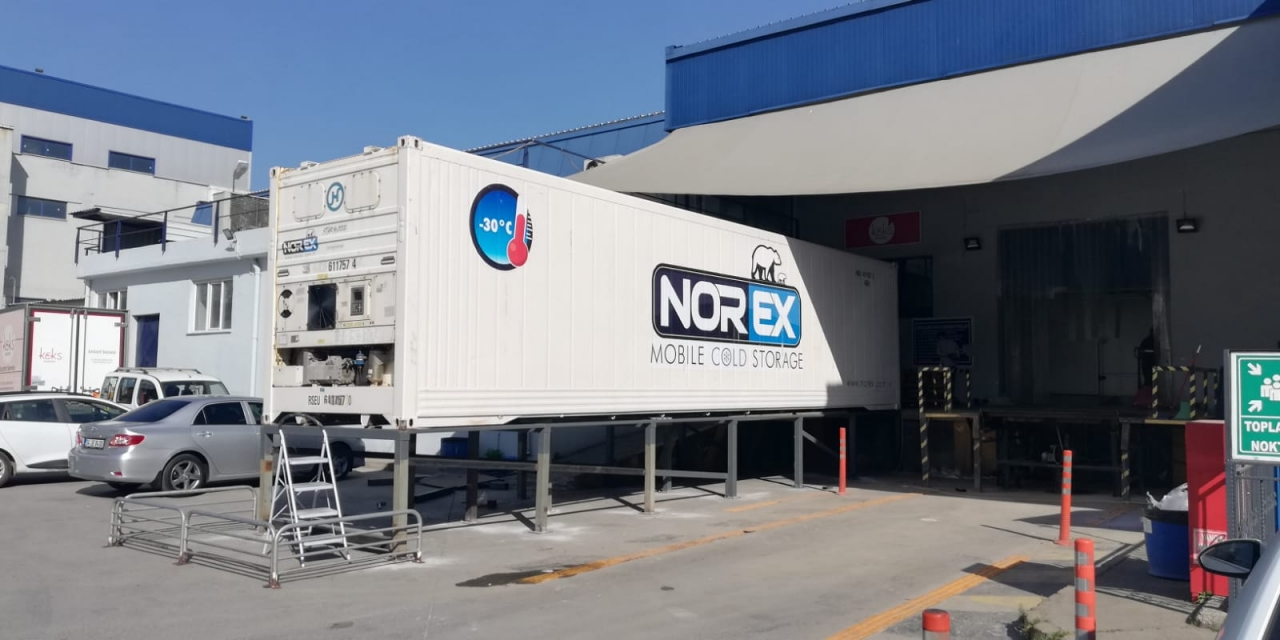 Leader Frozen Cake Factory Leased Norex Mobile Cold Storage Unit for one year