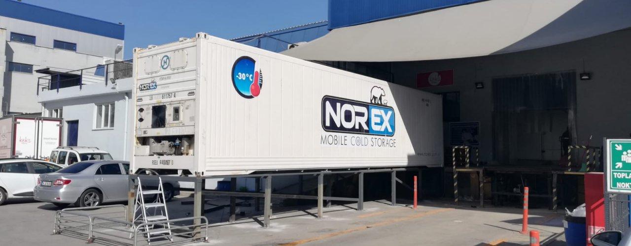 Lider  Donuk Pasta ve Kek İmalatçısı Fabrika Norex Mobil Soğuk Hava Konteynerini Bir yıllığına kiraladı