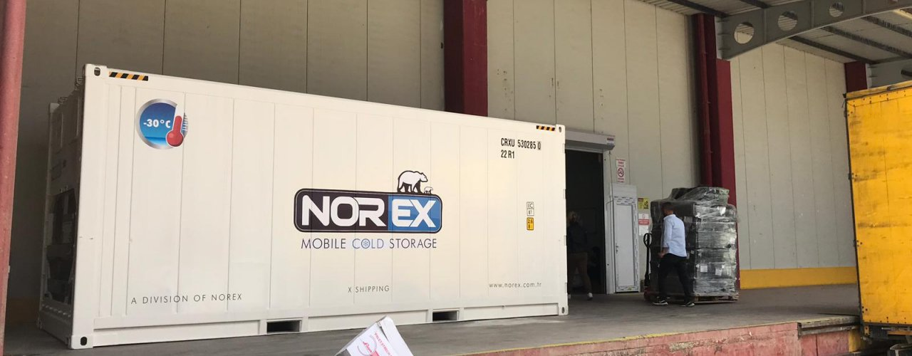 Alaşehirde Yerleşik Meyve İhracatı Yapmakta olan Müşterimiz Fümügasyon için Norex Mobil Soğuk Hava Deposunu Kiraladı