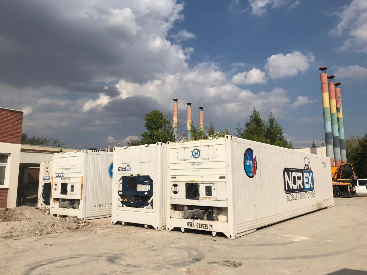 Univercity of Anatolia rented our 7x40 hc Norex Mobile Cold Storage Container
