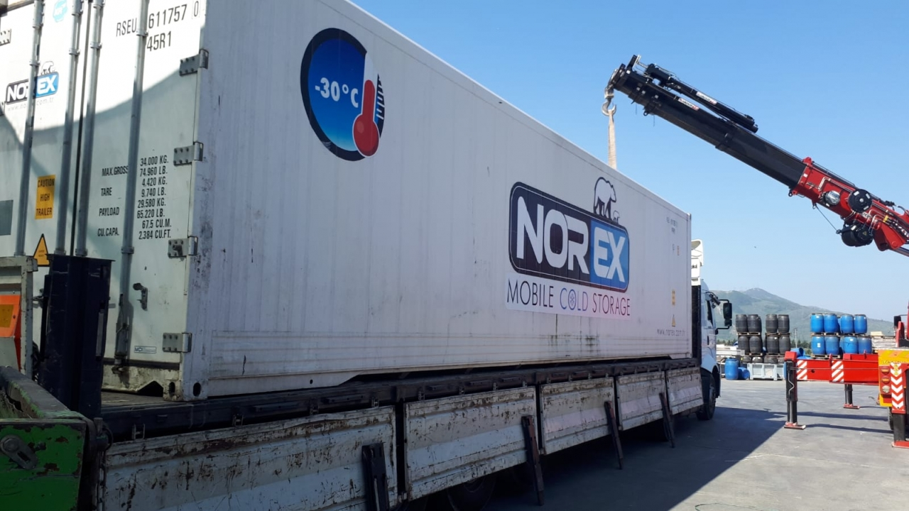 Food & Agriculture firm located at Marmara Region rent Norex Mobile Cold Storage