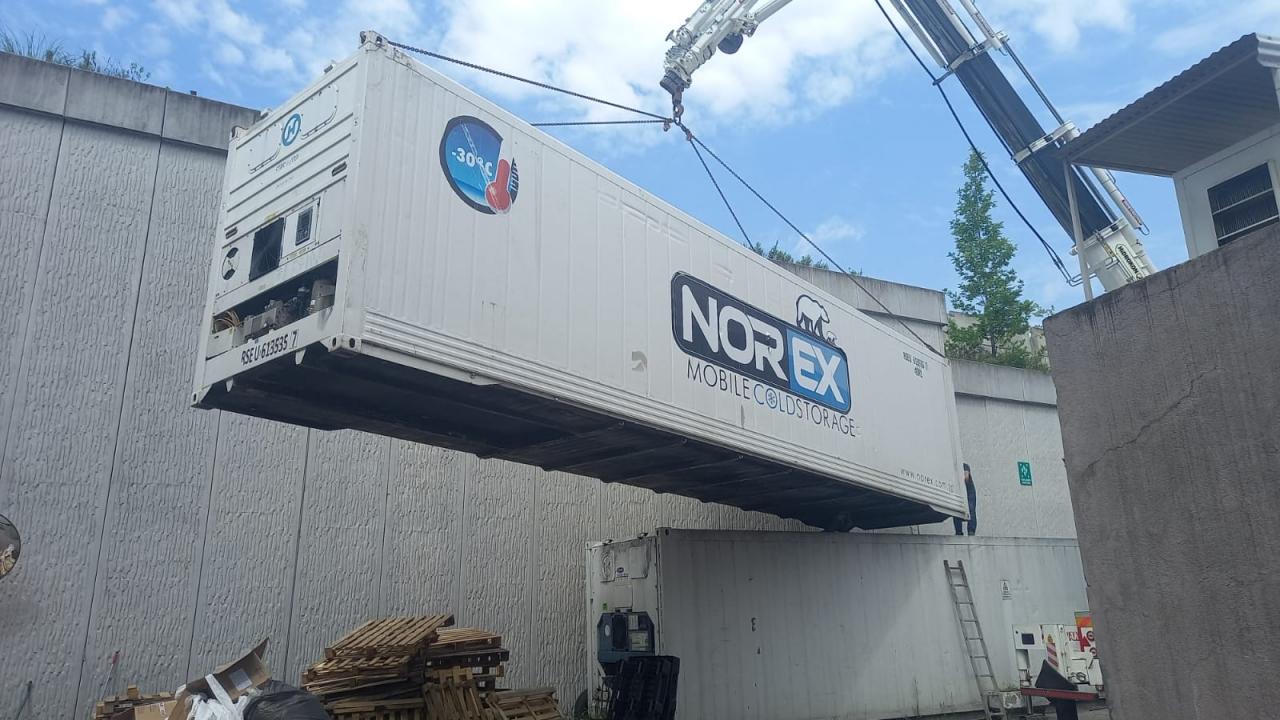 Donuk Kek Pasta  Üreticisi Fabrika ' ya Norex Mobile Cold Storage